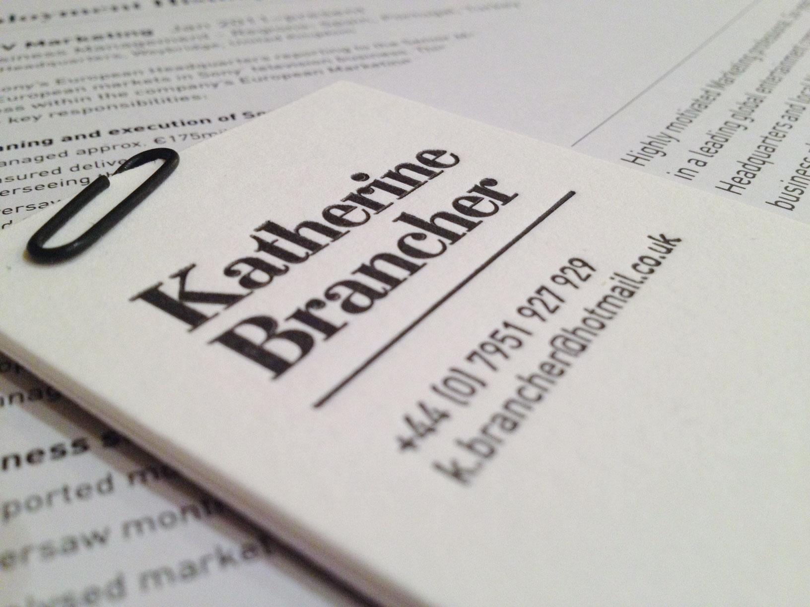 Katherine's Cards