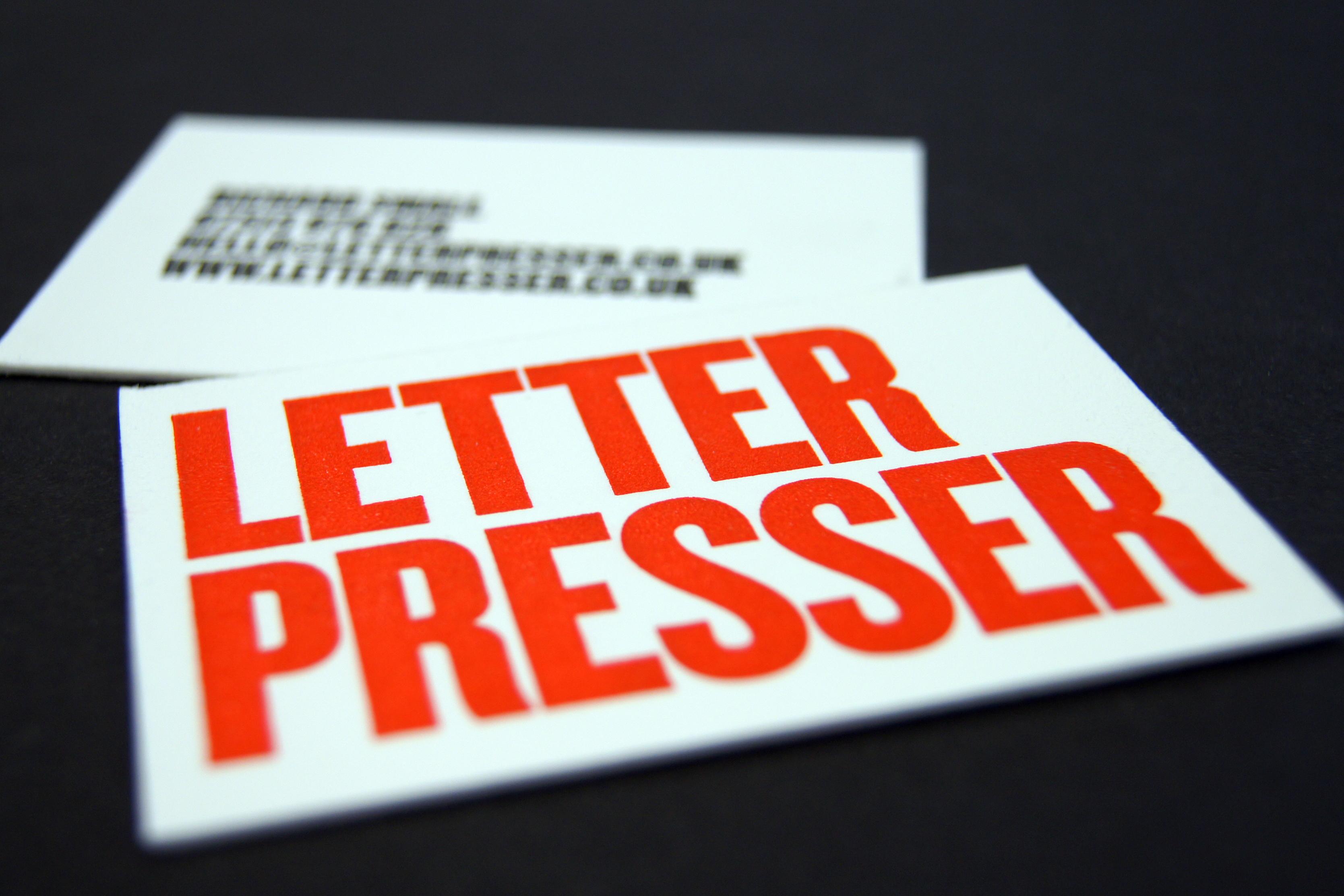 Letterpresser Calling Cards