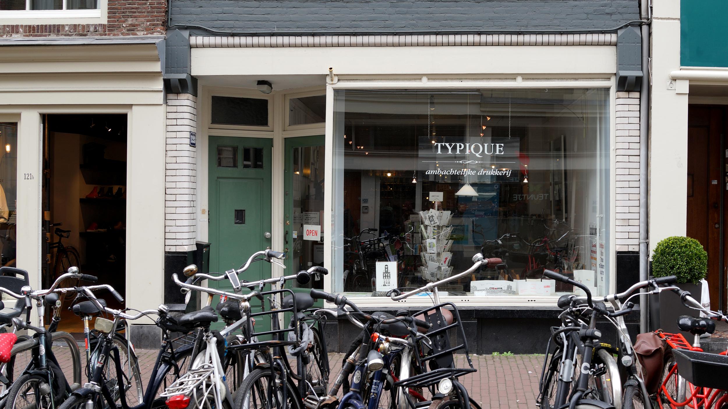 Typique letterpress shop, Amsterdam