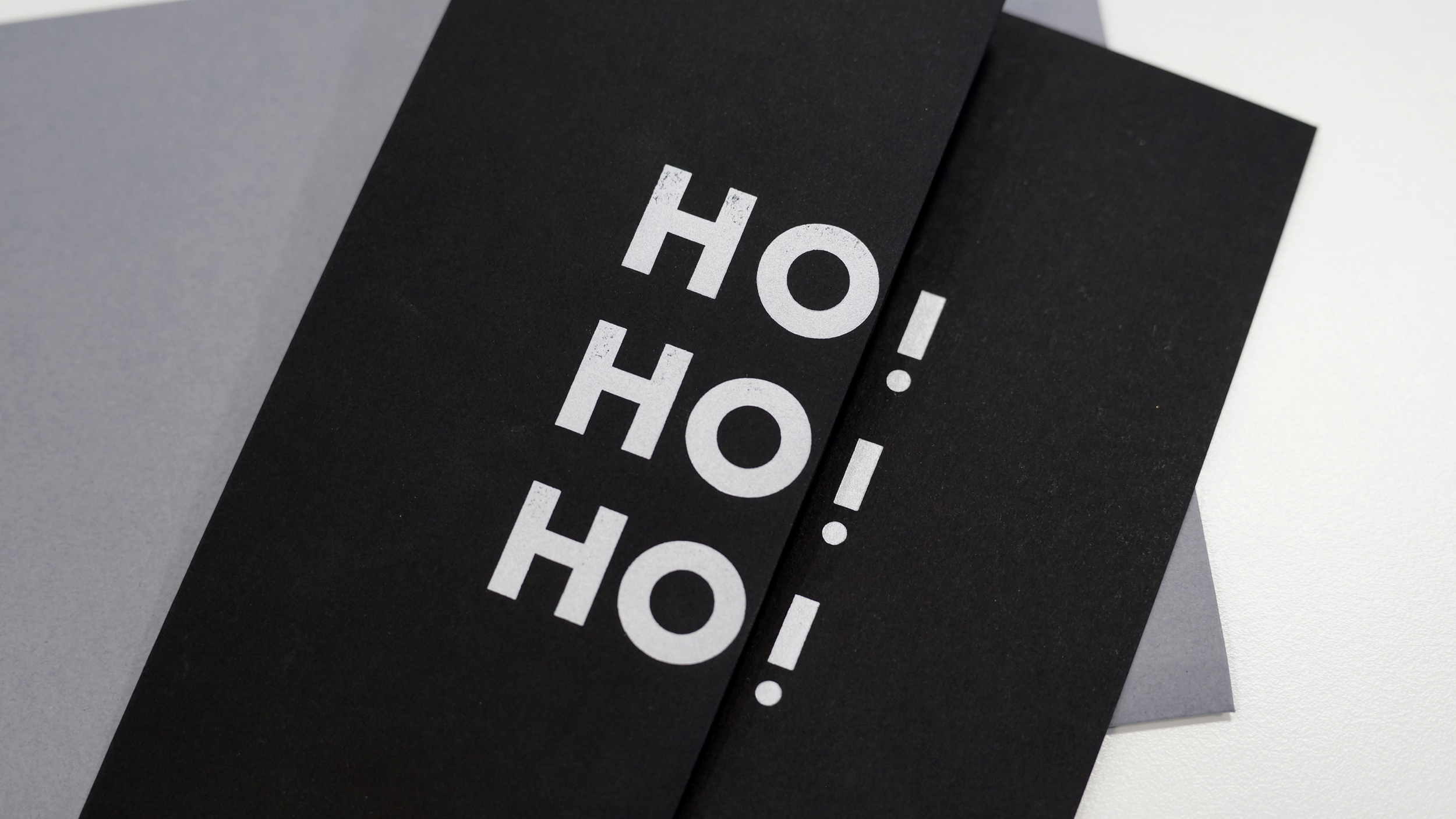 Ho! Ho! Ho! – Letterpress Christmas Card exchange 2015