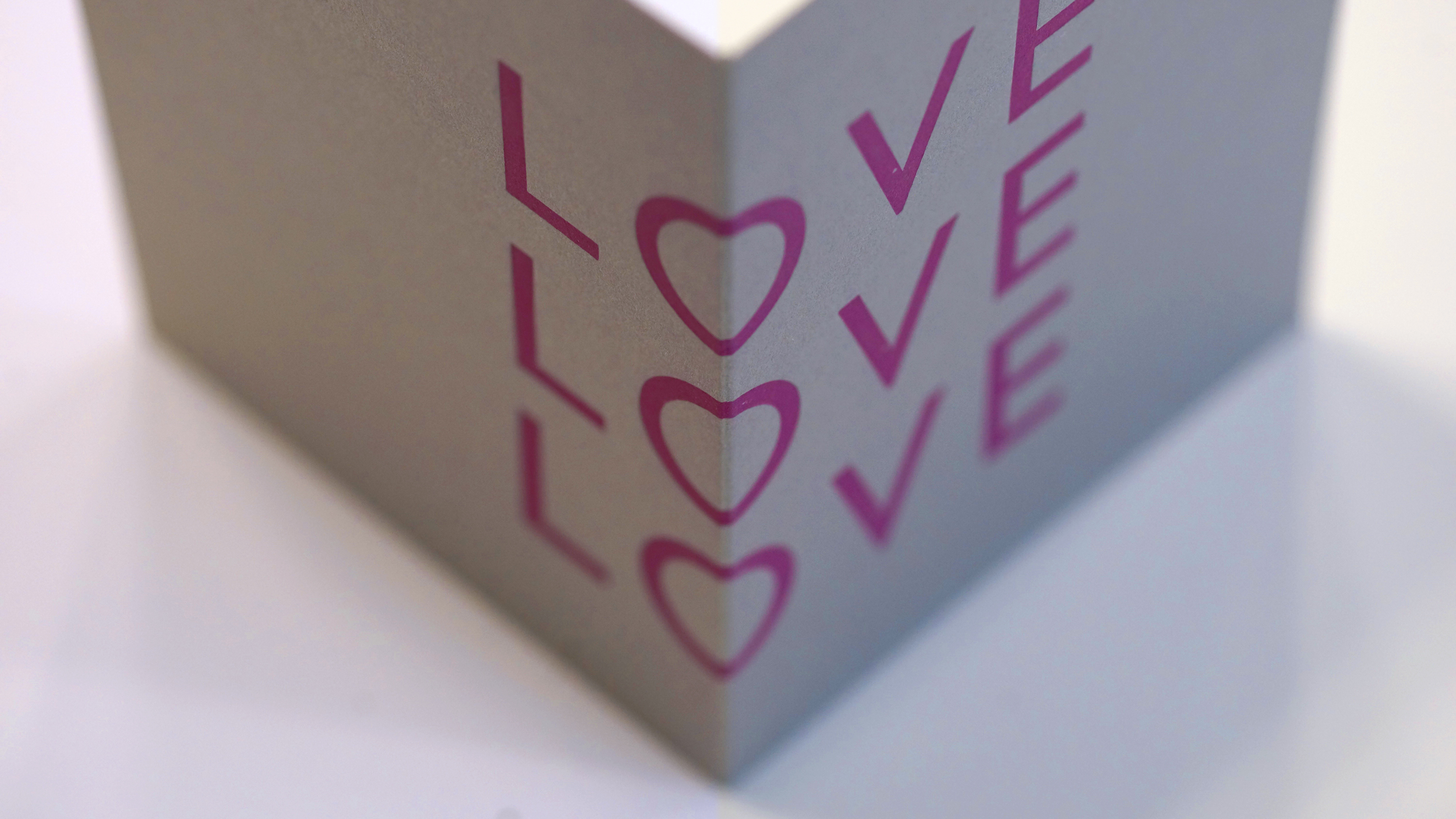 Letterpress Valentine's cards